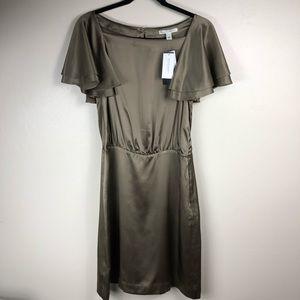 Banana Republic Silk Flutter Sleeve Shift Dress